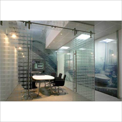 Glass Door Partition