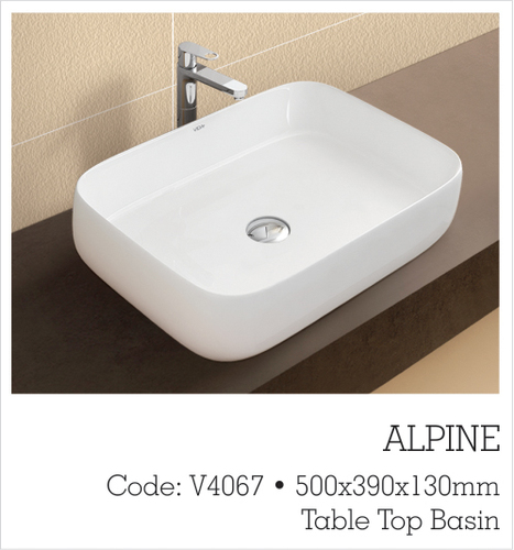 SQUARE TABLE TOP BASIN