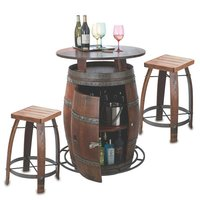 Iron & Wood Patio Outdoor Set