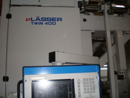 USED LASSER TWIN-400 SCHIFFLI EMBROIDERY MACHINE