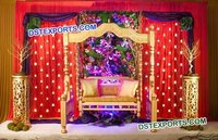 gold marriage jhula