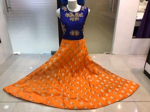 Chanderi Crop Top Salwar Suit