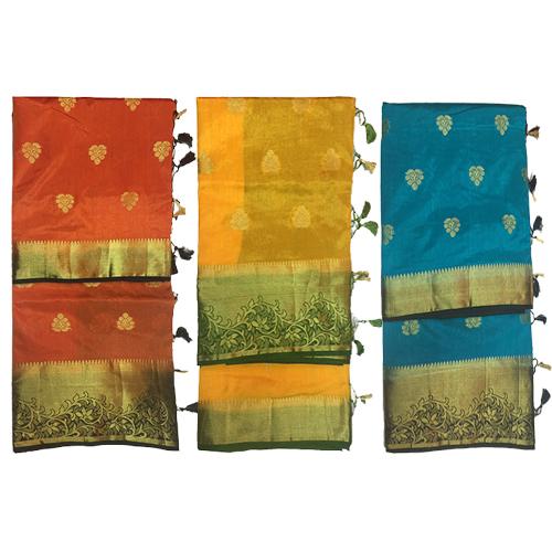 Paithani Silk Designer Golden Work Saree