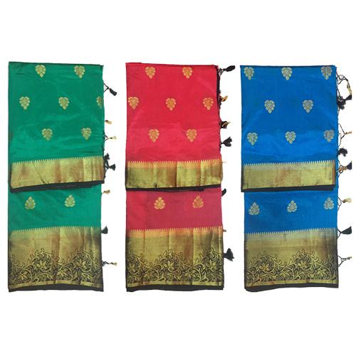 Silk Designer Golden Work Saree