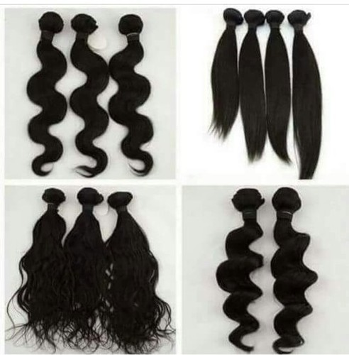 Styled or Texured Human Hair Extension
