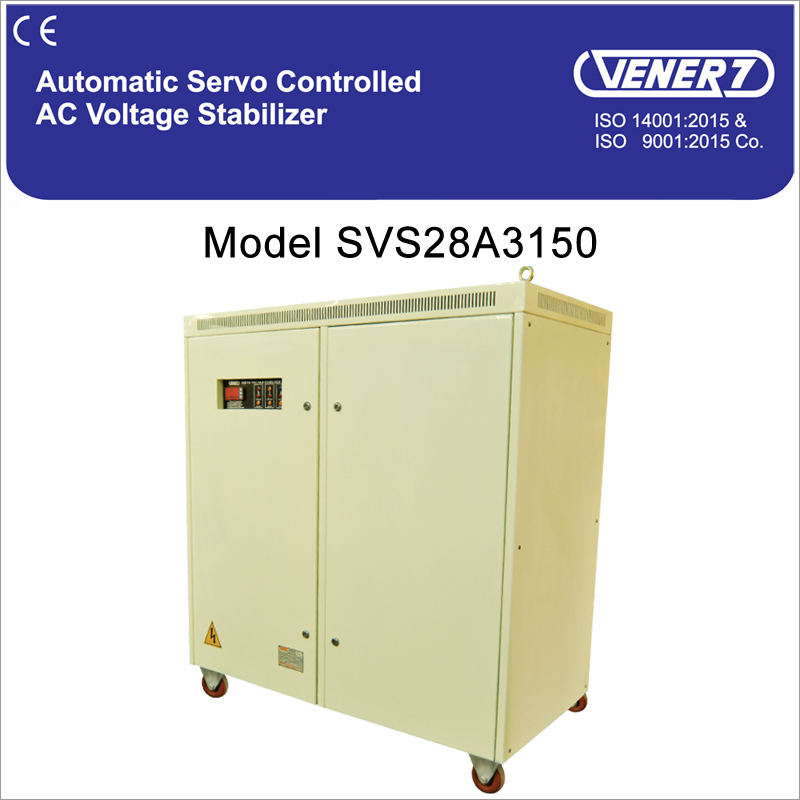 150kVA Automatic Servo Controlled Air Cooled Voltage Stabilizer