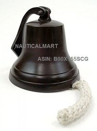 Aluminum Ship Bell, Dark Antique