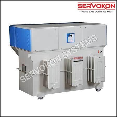 3 Phase Variac Type Servo Stabilizer - Oil Cooled