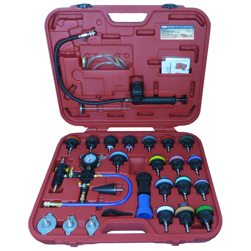 Cooling System Leakage Tester and Vacuum Type Coolant Refill Kit 28pc