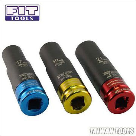 3 PCS 100mm Thin Wall Saftey Torque Limited Impact Socket (Max. 100 110Nm)