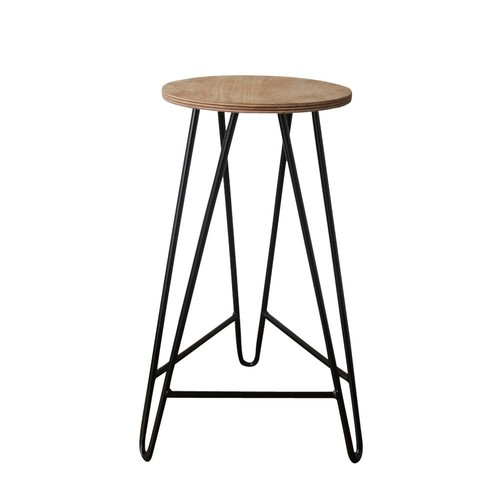 Industrial hairpin legs bar stool