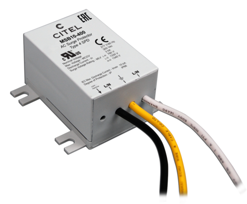Hard-wired AC surge protector