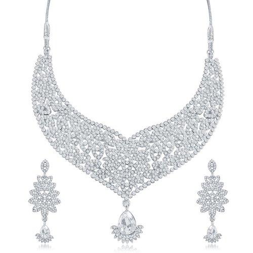 Crystal Rhinestone Necklace Set