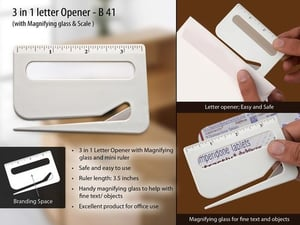 Letter Opener With Magnifier & Ruler