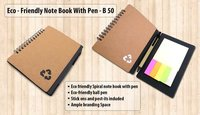 ECO NOTEBOOK WITH PEN AND STICKY PADS