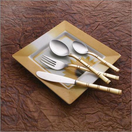 Bamboo Brass Steel and Cutlery