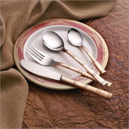 Bamboo Copper Steel Cutlery