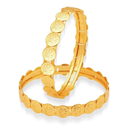 Designer Gold Plated Temple Jewellery Bangles