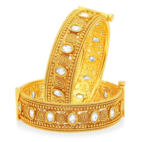 Jalebi Design Gold Plated Bangles