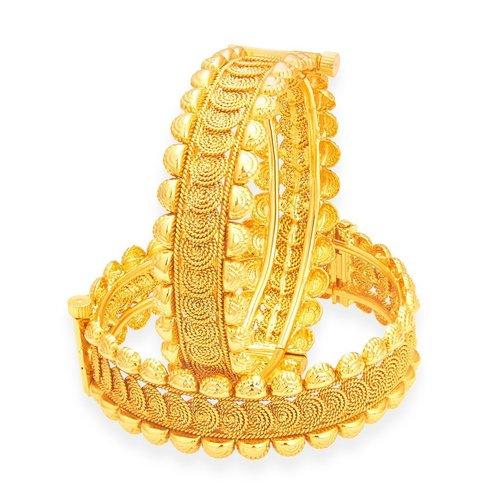 Traditional Design Jalebi Gold Plated Bangles