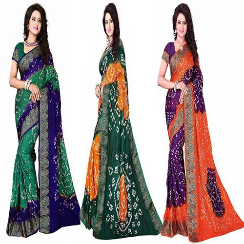 Purple HandmadeBandhani / Bandhej Saree