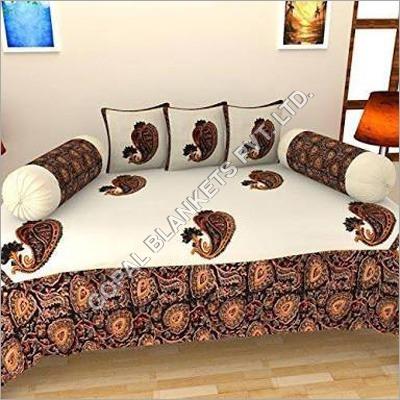 Chenille Diwan Bed Sheet