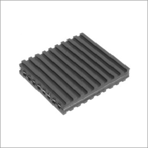 Metal Sandwich Rubber Pad Single Metal Plate