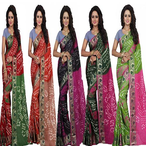 Batik Bandhani Saree