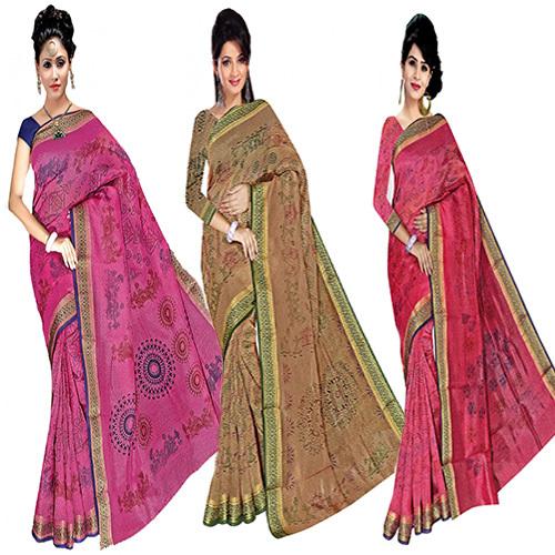 Bandhani Print Fancy Saree