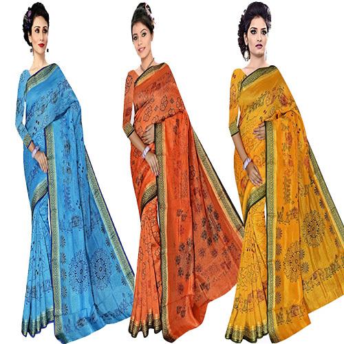 Jacquard  Silk Bandhani Print Saree