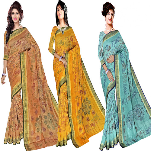 Fancy Bandhani Print Saree