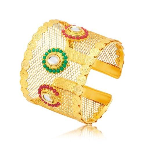 Laxmi Coin Gold Plated Kada