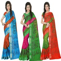 Jacquard Silk Bandhani with Print Saree