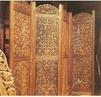 Hand carved Wooden Screen Partition