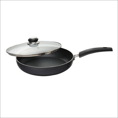 240 mm Elite Black Beauty Fry Pan with Glass Lid