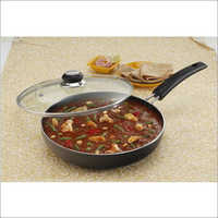 260 mm Elite Black Beauty Fry Pan with Glass Lid