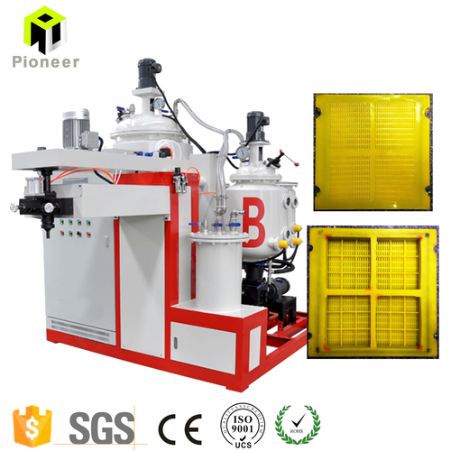 High Temperature Polyurethane Vibrating Screen Protector Making Machine