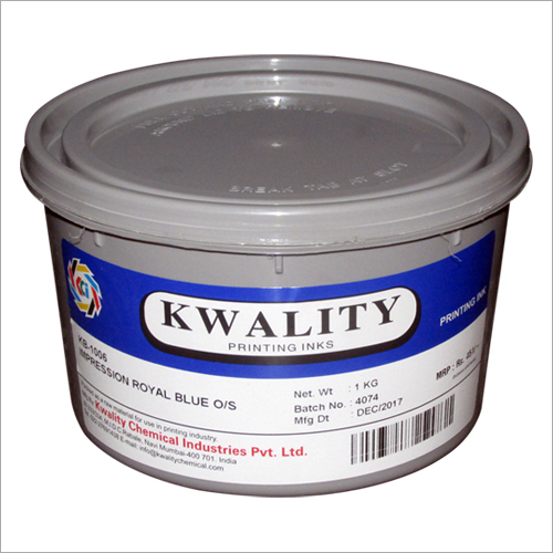 Royal Blue Printing Ink