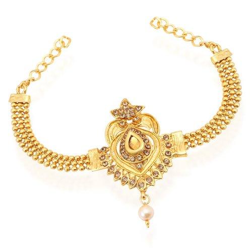Modish Gold Plated LCT Stone Bajuband Free Size