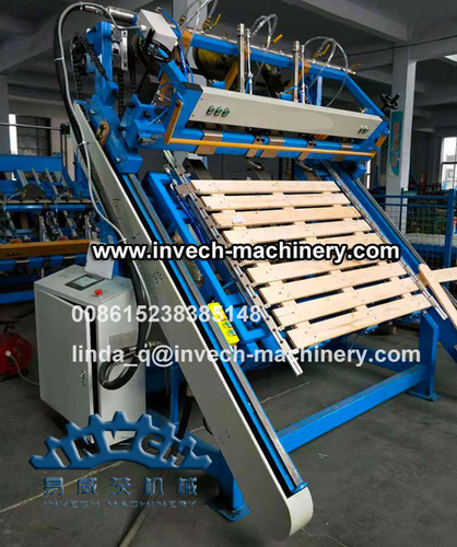 Semi-auto Wooden Pallet Nailing and Stacking Line