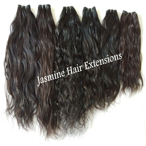 Virgin Black Wavy Hair