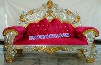 Muslim Walima Gold Silver Love Seat