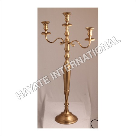 Brass 3 Stand Candle Holder