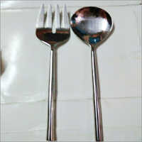 Cutlery Hammered Fork & Spoon