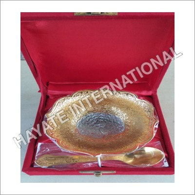 Dry Fruits Bowl With Spoon Mix Finish