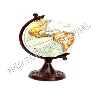 Aluminium & Iron White Wash Globe