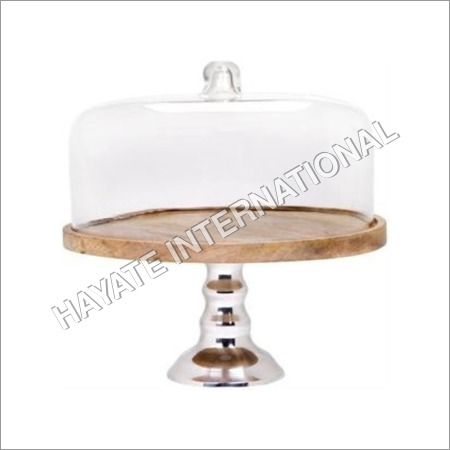 Wooden Top Cake Stand