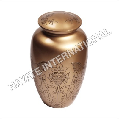 Brass Urn With Leaf Design