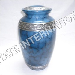 Metal Cremation Urn with Keepsake