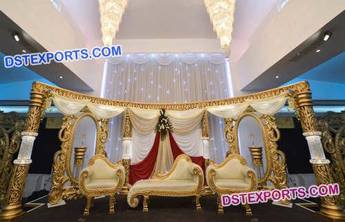 Asian Muslim Wedding Stage Decorations
